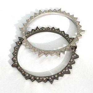 CC Skye Silver & Grey Bracelet set w/ CZ studs